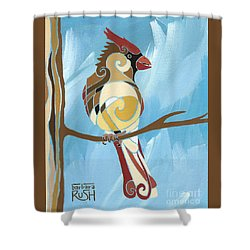 Moms Day Off Female Cardinal Painting Shower Curtain