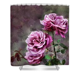 Shower Curtain featuring the digital art Moms Roses by Susan Kinney
