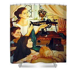 Mom's Sewing Room  Shower Curtain