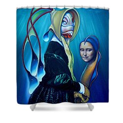 Mona Eelsa Shower Curtain by Patrick Anthony Pierson