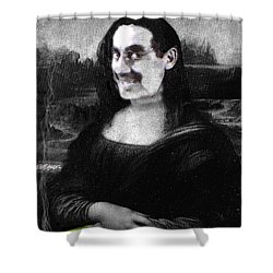 Mona Grouchironi Shower Curtain by Seth Weaver