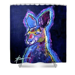 Mona Lisa 'roo Shower Curtain