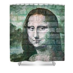 Shower Curtain featuring the painting Mona Lisa  by Stan Tenney