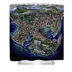 Monaco Shower Curtain by Antonio Ortiz