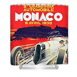 Monaco Grand Prix 1930 Shower Curtain by Taylan Apukovska