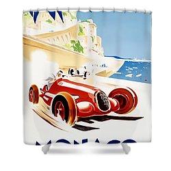 Monaco Grand Prix 1937 Shower Curtain by Georgia Fowler