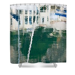 Monaco Reflection Shower Curtain by Keith Armstrong