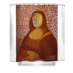 Shower Curtain featuring the painting Monalisa by Fei A
