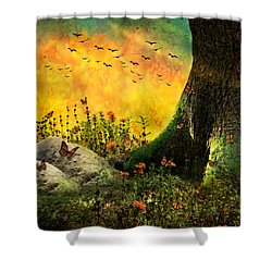 Monarch Meadow Shower Curtain