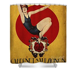 Monarch Wine A Vintage Style Ad Shower Curtain by Cinema Photography