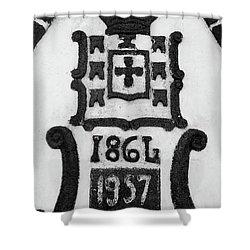 Monarchy Symbols Shower Curtain by Gaspar Avila