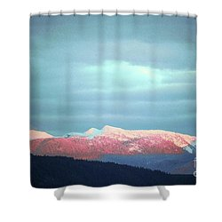 Monashee Sunset Shower Curtain