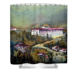 Monastery In Mountain Shower Curtain