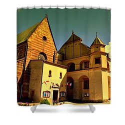 Monastery In The Wachock/poland Shower Curtain