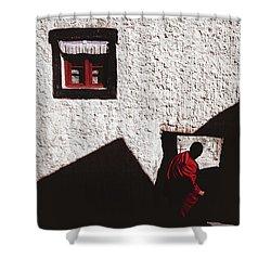 Monastery Shower Curtain by Marji Lang