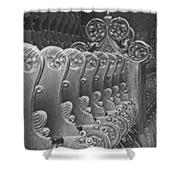 Monastery Pews Shower Curtain