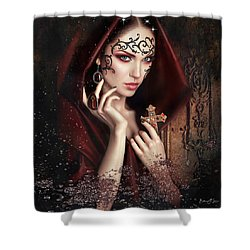 Monastery Secrets Shower Curtain