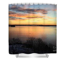 Monday, Monday Sunrise January 25, 2016 Shower Curtain