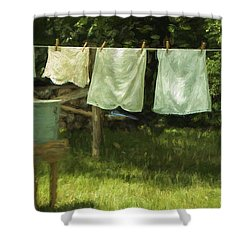 Monday Was Wash Day Shower Curtain