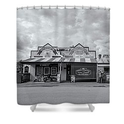 Shower Curtain featuring the photograph Monegeetta General Store by Linda Lees