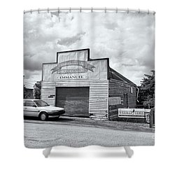 Shower Curtain featuring the photograph Monegeetta Produce Store by Linda Lees