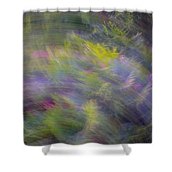Monet Effect Abstract Image Shower Curtain by Bruce Pritchett