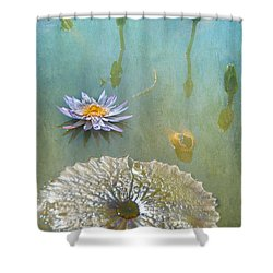 Shower Curtain featuring the photograph Monet Inspired by Carolyn Dalessandro