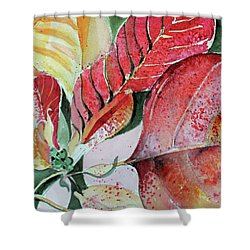 Monet Poinsettia Shower Curtain