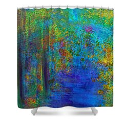 Monet Woods Shower Curtain by Claire Bull
