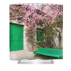 Monet's Bench Shower Curtain