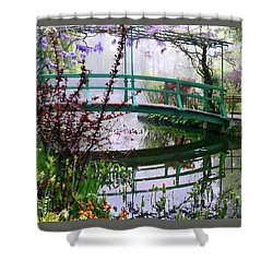 Shower Curtain featuring the photograph Monet's Bridge by Jim Hill
