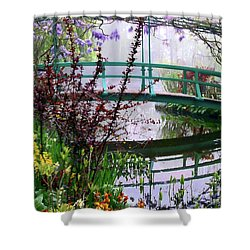 Monet's Bridge Shower Curtain