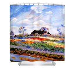 Monet's Tulips Shower Curtain