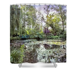Shower Curtain featuring the photograph Monet's Water Garden by John Rivera