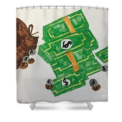 Money  Shower Curtain