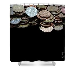 Money Games Shower Curtain