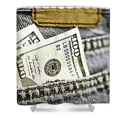 Shower Curtain featuring the photograph Money Jeans by Trish Mistric