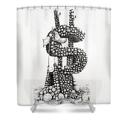 Money Monument Shower Curtain by James Williamson