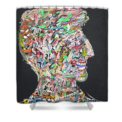 Shower Curtain featuring the painting Money,sex And Power by Fabrizio Cassetta