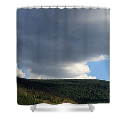 Mongolian Sky Shower Curtain by Diane Height