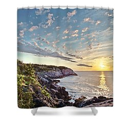 Monhegan East Shore Shower Curtain