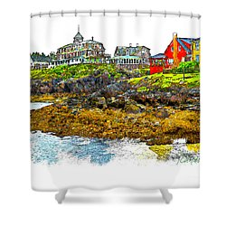 Monhegan West Shore Shower Curtain