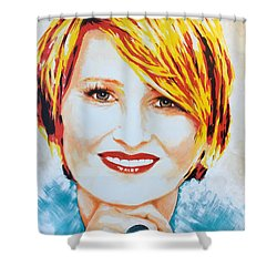 Monica Shower Curtain by Victor Minca