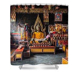 Kathmandu Monk Shower Curtain by Marty Garland