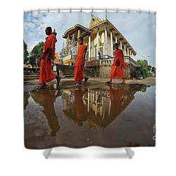 Monk Back Home Shower Curtain