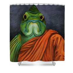 Monk Fish Shower Curtain by Leah Saulnier The Painting Maniac