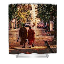 Monk Mates Shower Curtain