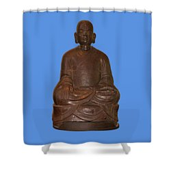 Monk Seated Shower Curtain