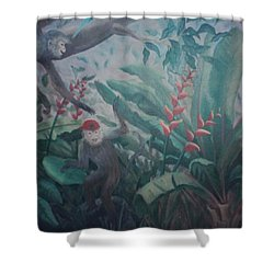 Monkees In The Jungle Shower Curtain