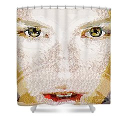 Monkey Glows Shower Curtain by Catherine Lott